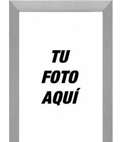 Marco para fotos online efecto de aluminio