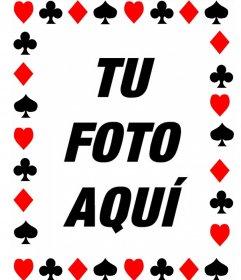 Marco para fotos con los símbolos de las cartas de Poker