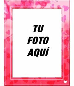 Marco rosa de corazones para poner tus fotos