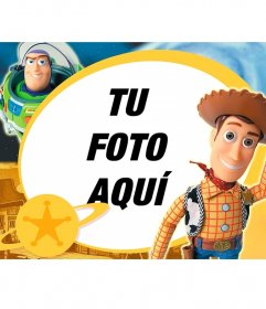 Marco infantil de Toy Story con los dos personajes principales de la película