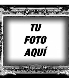 Marco en blanco y negro de estilo victoriano para tus fotos