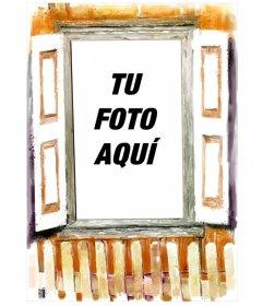 Fotomontaje en el que tu fotografía aparecerá en el interior de una casa