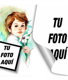 Collage especial para dos fotos de comunión