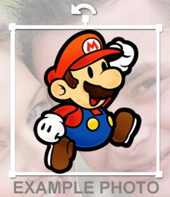 Pegatina de Mario saltando