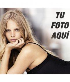Fotomontaje con Marloes Horst para poner tu foto junto a ella