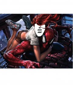 Fotomontaje con Mary Jane y Spiderman para poner tu foto en ella