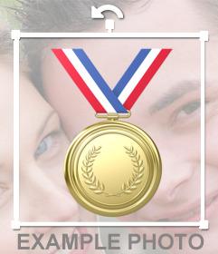 Medalla de oro para pegar en tus imágenes online