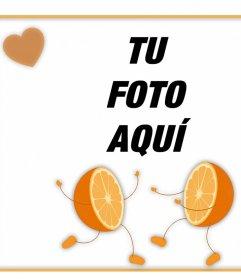 Marco para editar y poner una foto con tu media naranja