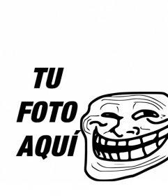 Fotomontaje para poner el Meme de Troll Face con tu foto