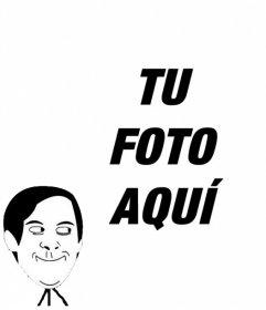 Fotomontaje para poner el meme de UYY QUE MALOTE en tu foto