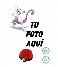 Fotomontaje con Mewtwo en el juego de Pokemon Go para añadir tu foto