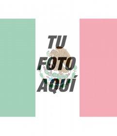 Foto montaje de la Bandera de México para poner en tu foto