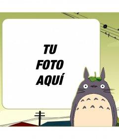 Marco infantil para poner tu foto junto a Mi vecino Totoro
