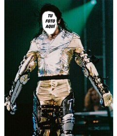 Foto montaje de Michael Jackson personalizable con tu cara