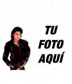 Fotomontaje para poner tu foto al lado de Michael Jackson