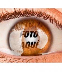 Fotomontaje para poner una foto como si estuvieras dentro de un ojo