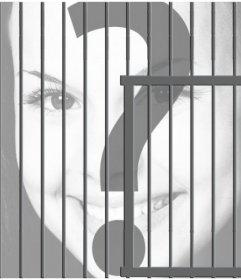 Fotomontaje de una celda para encerrar tus imágenes online