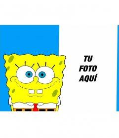 Collage para poner tu foto junto a Bob Esponja