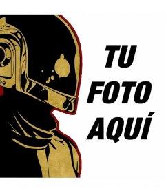 Ilustración de Daft Punk para hacer un montaje con tus fotos