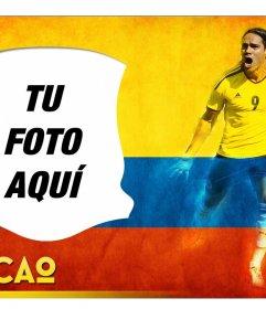 Montaje de fotos con Radamel Falcao, jugador colombiano de fútbol