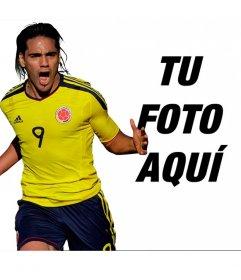 Fotomontaje con Falcao de la selección de Colombia