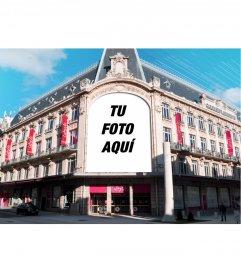 Montaje sobre Galerías Lafayette en París