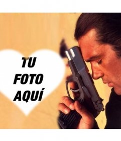 Fotomontaje de Antonio Banderas en el que puedes poner una foto tuya en forma de corazón