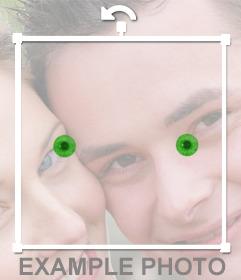 Cambia el color de tus ojos a verde con este foto efecto online