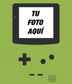 Fondo con Game Boy para tus fotos en una pantalla portátil