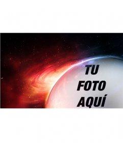 Fotomontaje planetario con Marte