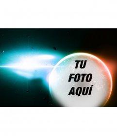 Collage especial para poner tu foto en un planeta