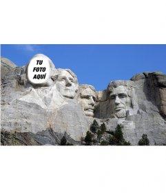Fotomontaje gratis para poner tu cara en la famosa obra del monte Rushmoreen