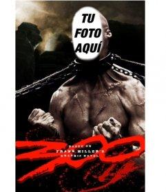 Conviértete en el monstruo de la película 300 con cadenas en el cuello