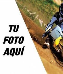 Montaje de fotos con una moto de motocross