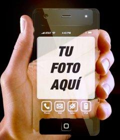 Móvil transparente con tu foto