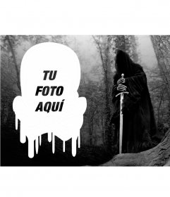 Collage con tu foto en forma de calavera