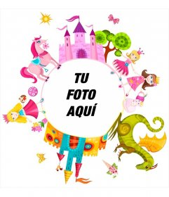Fotomontaje infantil de princesas