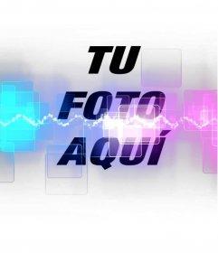 Añade a tus fotos un efecto especial estilo musical con rayos láser y colores fluorescentes