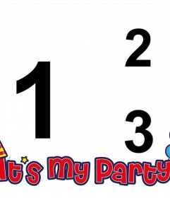 Foto collage de ITs MY PARTY para editar con dos de tus fotos online