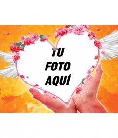 Postal para San Valentín, mi corazón está en tus manos