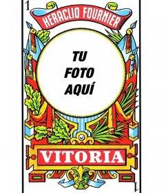 Fotomontaje baraja de cartas española