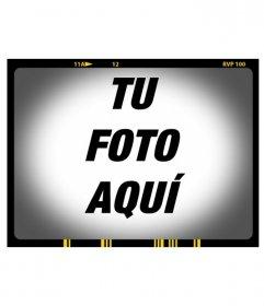 Marco de fotos estilo negativo de fotos con efecto de imagen borrosa