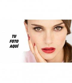 Fotomontaje para posar junto a la actriz Natalie Portman
