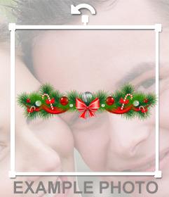 Sticker de guirnalda de Navidad para tu foto