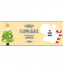 Foto de portada Facebook con tu imagen de Navidad
