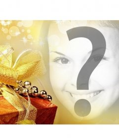 Filtro Navideño para poner tu foto junto a un regalo y usar como portada