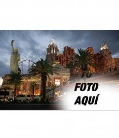 Fotomontaje para realizar un collage con la ciudad de Nueva York, en Las Vegas