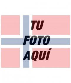 Filtro de la bandera de Noruega para tus imágenes gratis