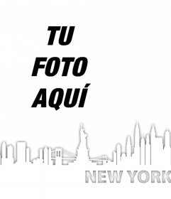 Foto efecto para añadir el skyline de Nueva York en tus fotos