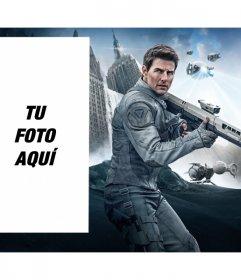 Fotomontaje con Tom Cruise en la película Oblibion